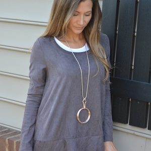 comfy suede tunic top