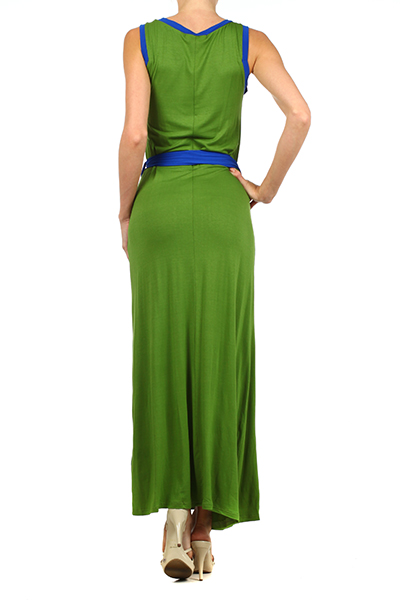 With A Twist Of Lime Green Maxi Dress Southern Blu