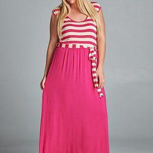Curvy sleeveless maxi dress