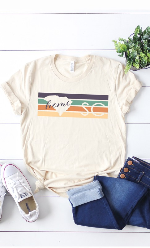 graphic SC short sleeve vintage home tee
