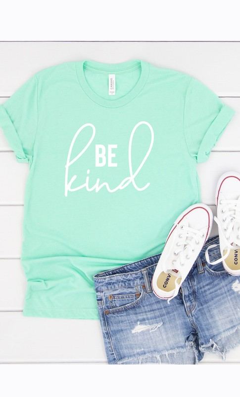 Be Kind mint graphic tee