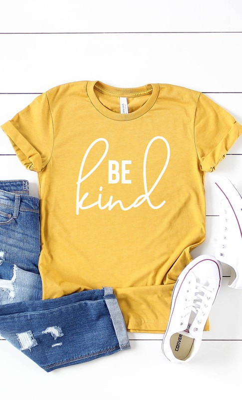 Be Kind graphic tee shirt for women