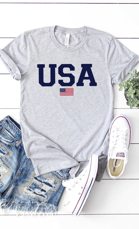 Bella Canvas graphic print USA tee