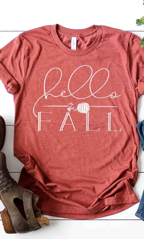 graphic short sleeve hello fall tee