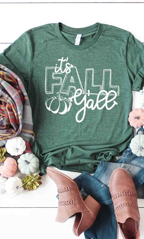 Fall heather green tee