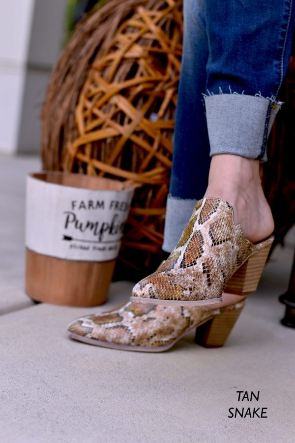 fall pic snake skin mules with kan can jeans