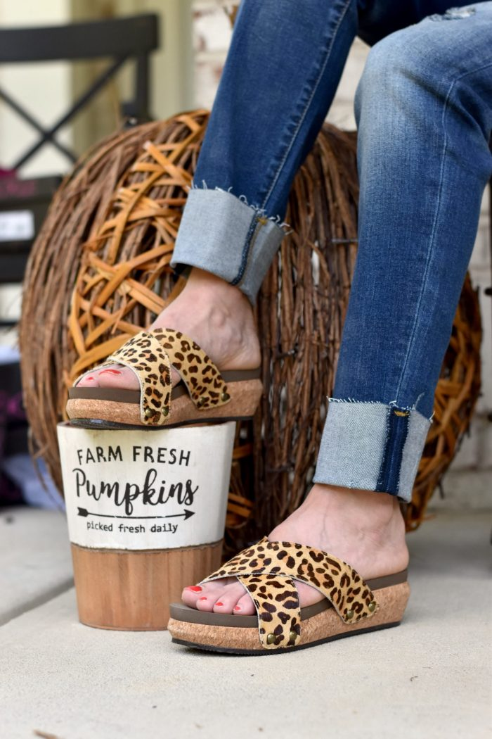 shoes with fall decor