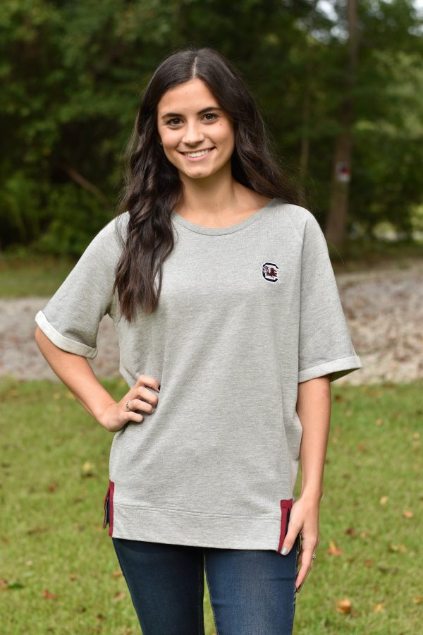 Carolina Gamecocks sweatshirt terry cloth top
