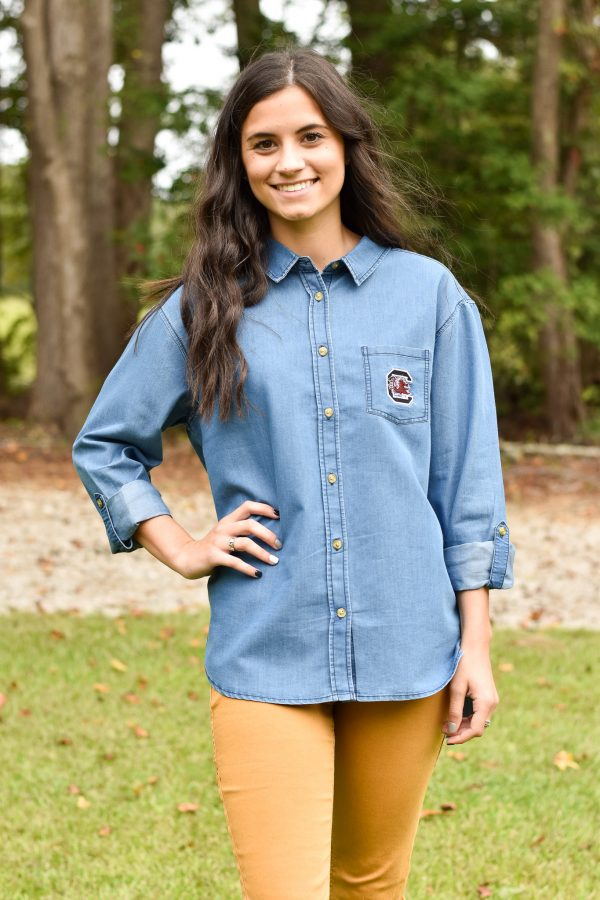 UG Apparel Carolina Gamecocks Denim button down