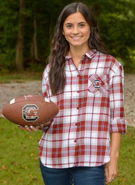 carolina Gamecocks plaid flannel