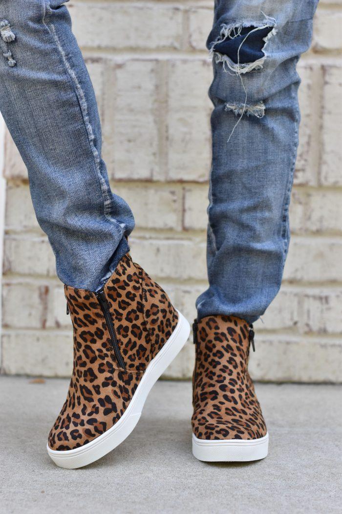 leopard hight top sneakers
