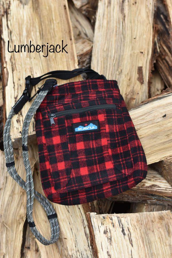 KAVU keepalong crossbody buffalo plaid bag