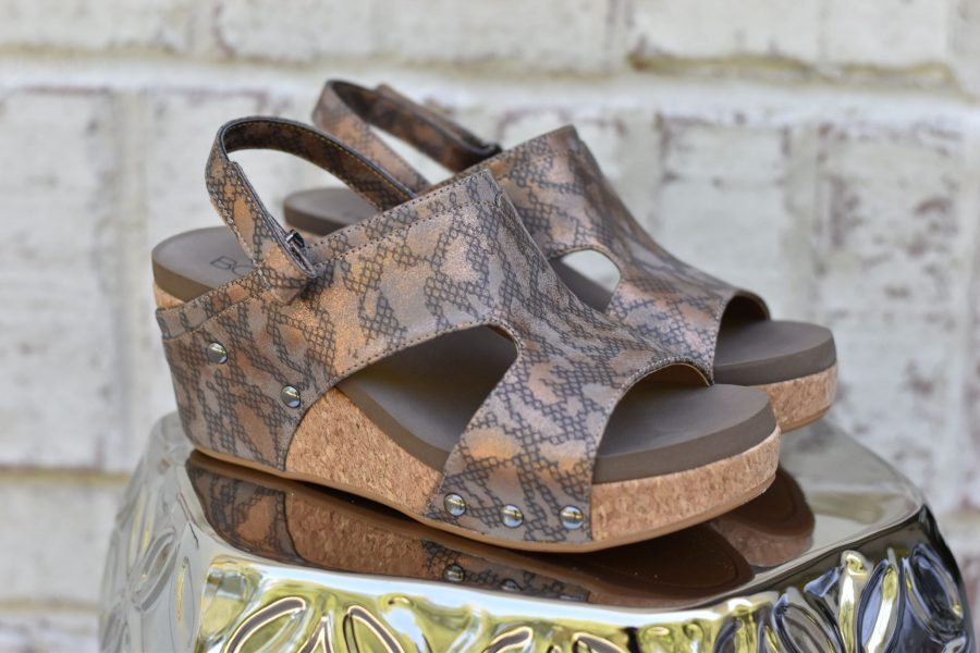 bronze snake shoes
