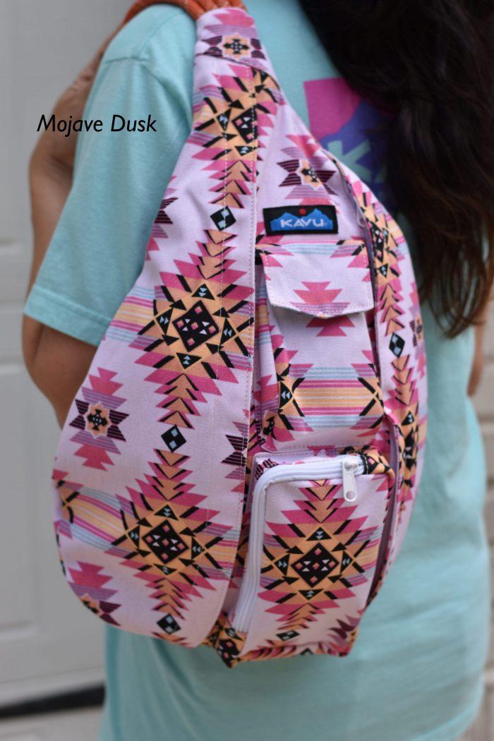 KAVU aztec print pink bag
