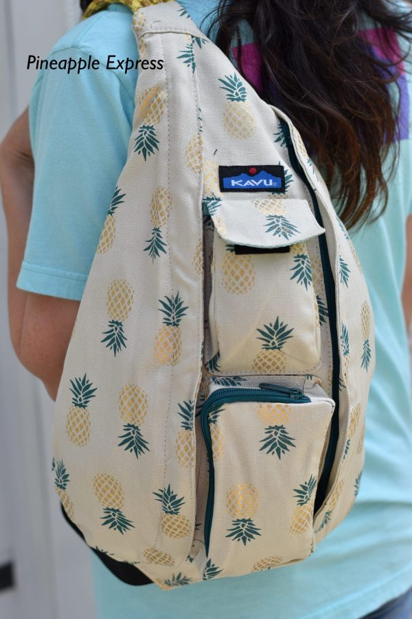 KAVU Pineapple rope sling book bag crossbody