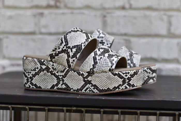black snake skin shoe