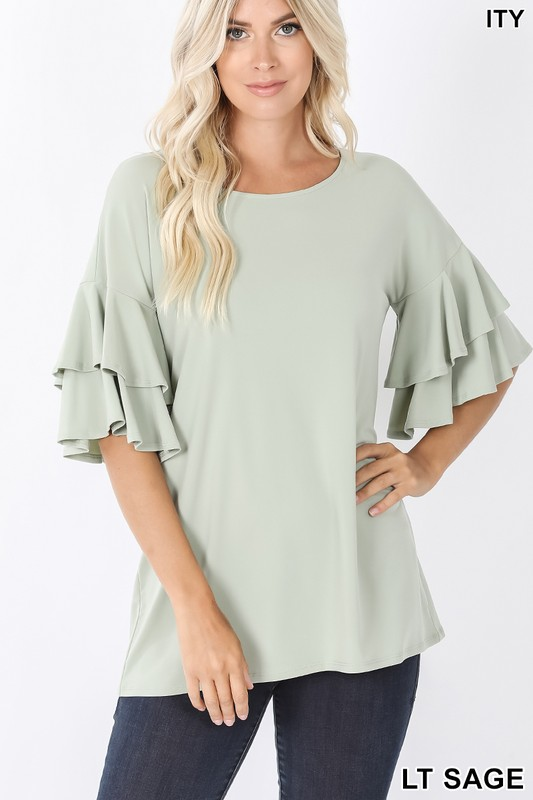 Double ruffled blouse