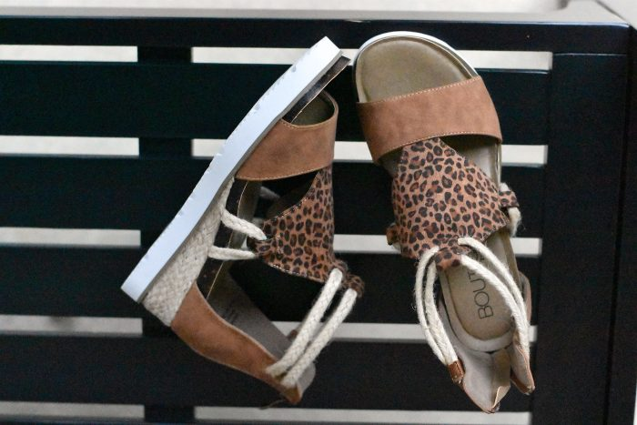 Corkys Browning Small Leopard sandal rope sneaker shoe