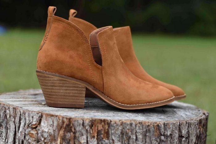 corkys stassi camel tan western bootie boot