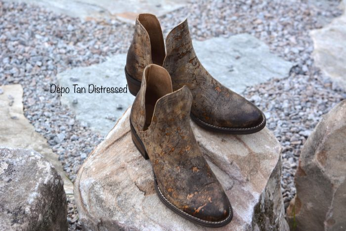 corkys depo leather cowgirl booties western boots distressed leather