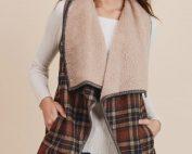 Willow plaid vest