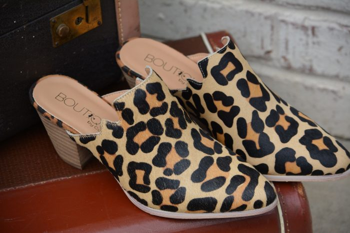 Leopard corkys mules shoes leather
