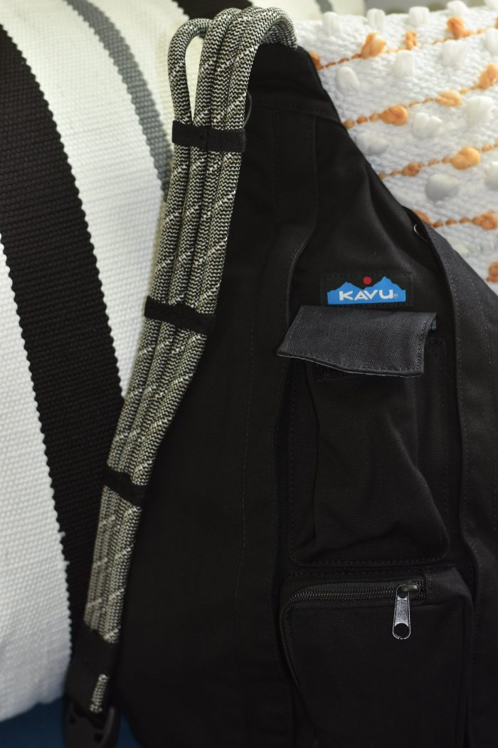 Black kavu rope bag grey cord