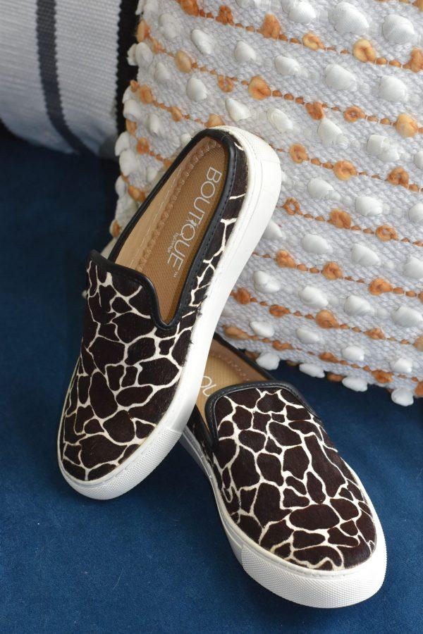 leather giraffe slides