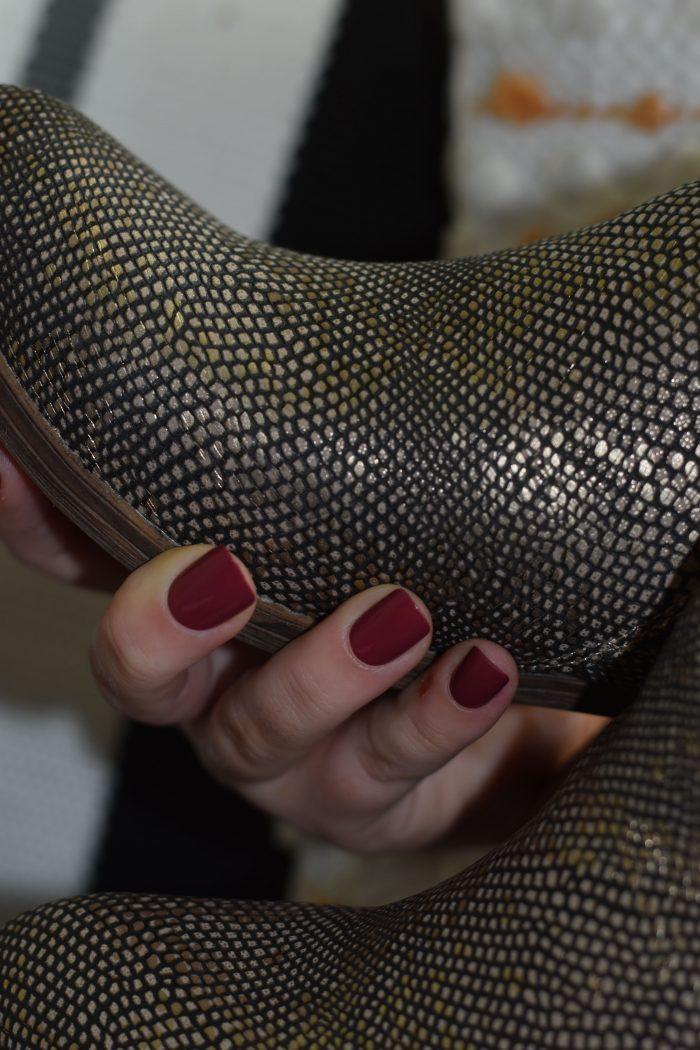 gun metal boot shoes women's metallic
