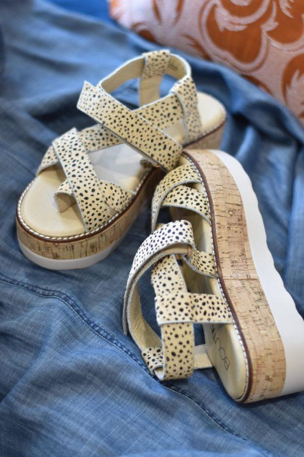 leather cheetah leopard shoes platforms straps