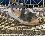 espadrilles camo shoes twill rope wedge canvas corkys