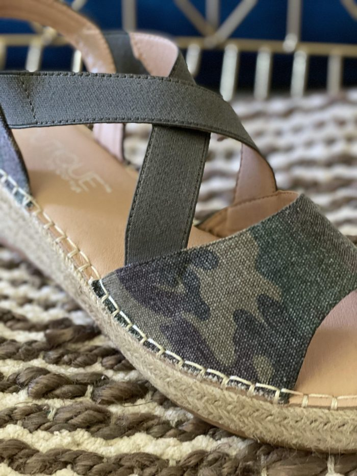 camo shoes wedge strap