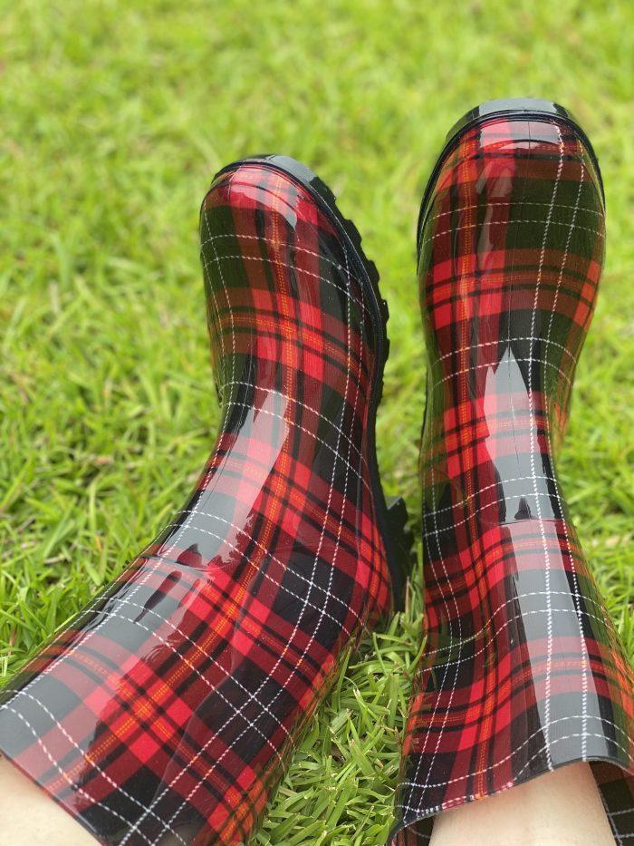 corkys plaid rain boots shoes waterproof riverwalk