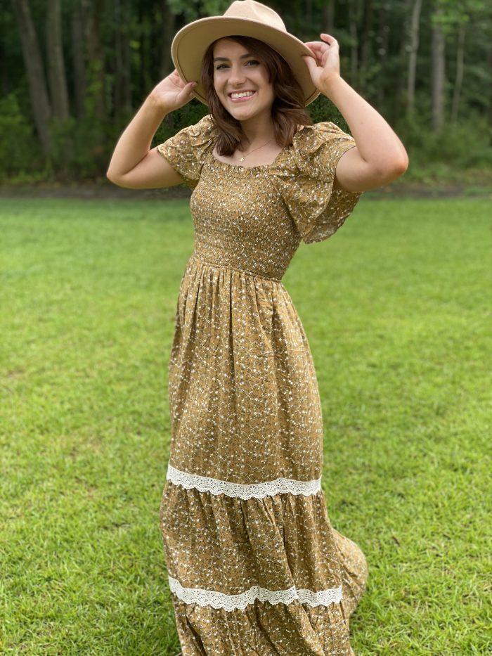 floral long prairie dress