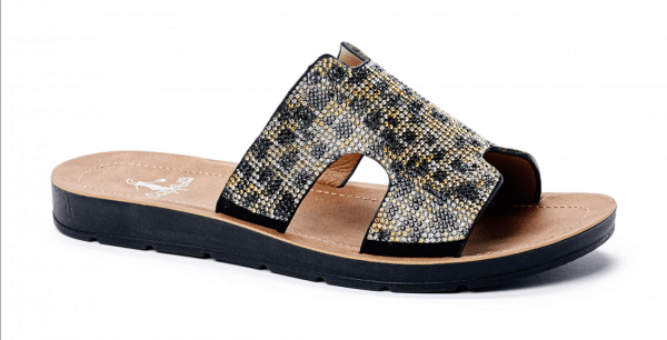 rhinestone shoes corky sandals