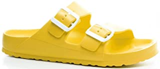 yellow slide shoes