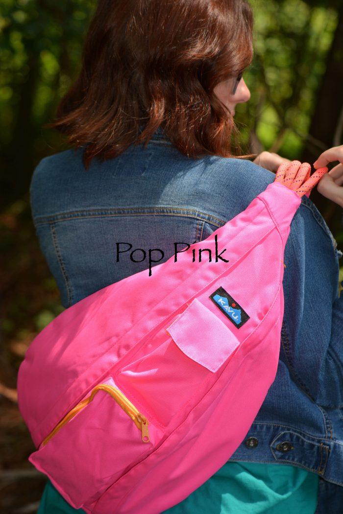 KAVU rope pink travel pockets