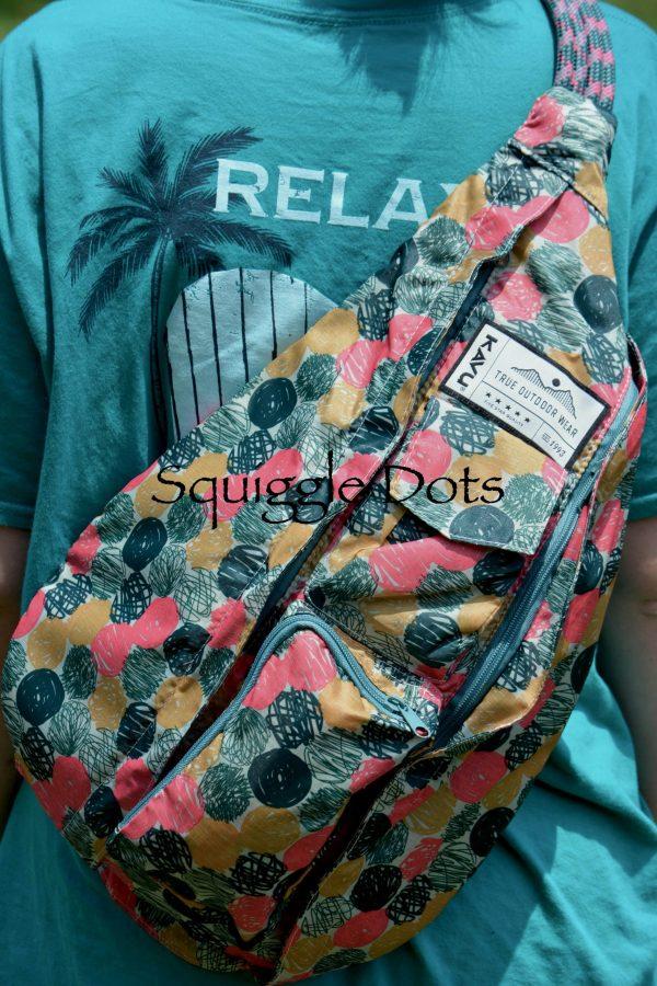 rope pack sack kavu bag dots