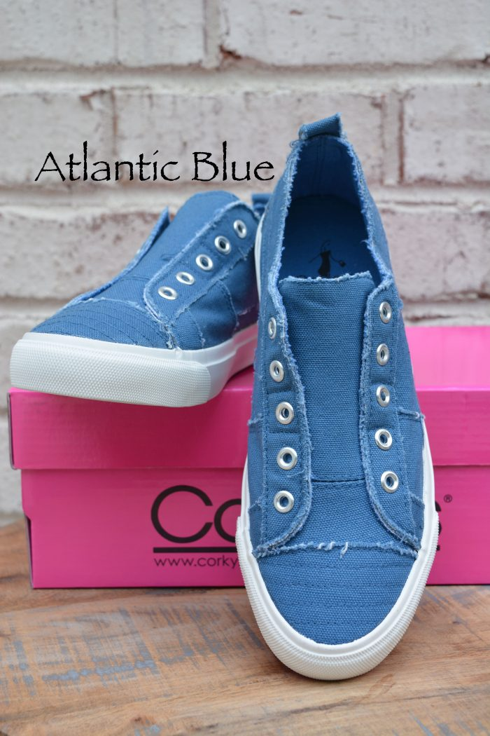 laceless sneakers blue tennis shoes