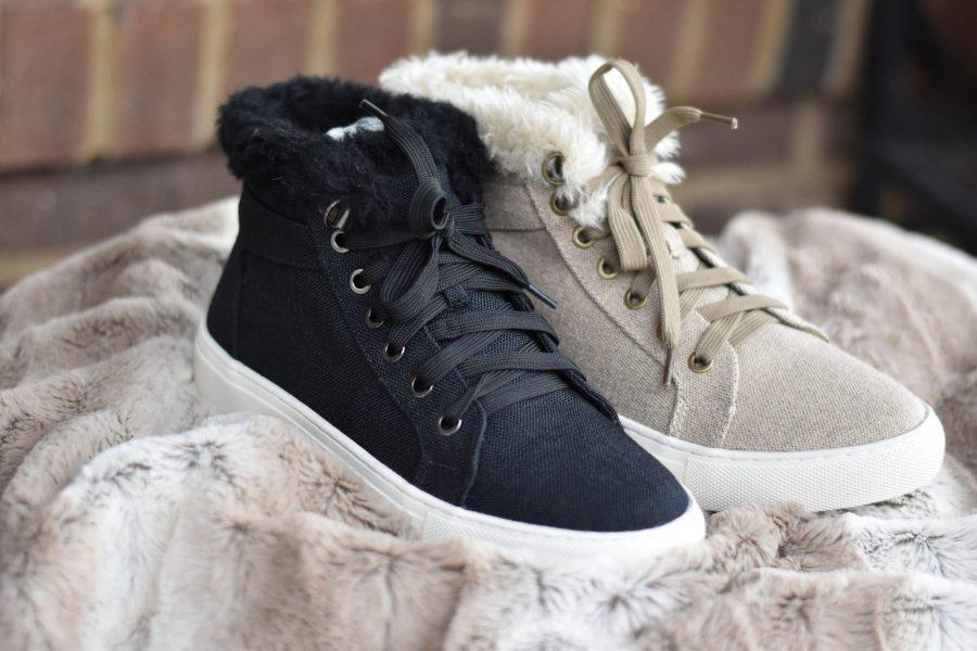 corkys temple tennis shoes fur shoes