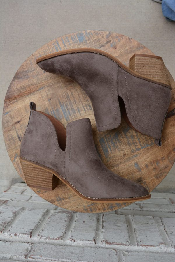 Stassi boot bootie taupe brown shoe